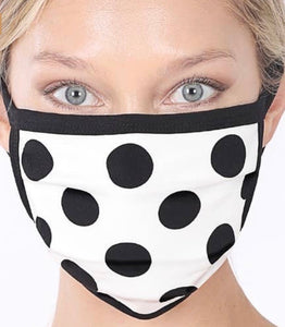 Polka Dot Print Washable Fabric Mask
