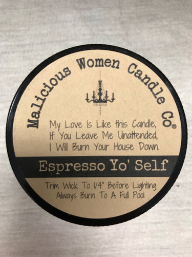 Espresso Yo' Self Candle: Raising Hell & Babies