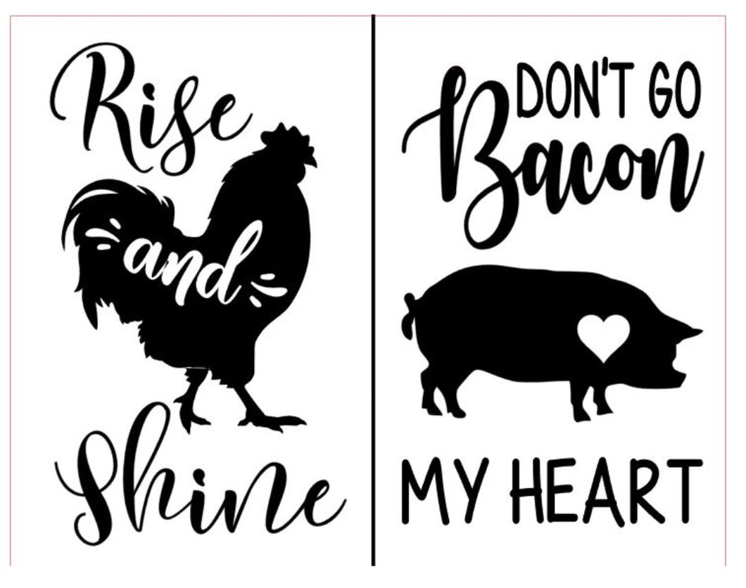 Rise and Shine - Magnolia Design Company Silkscreen Stencil