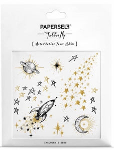 Galaxy Temporary Tattoo Stickers
