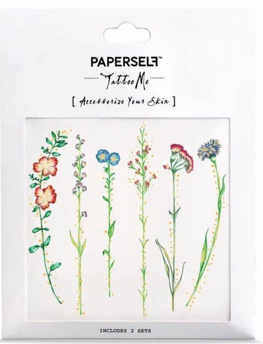 Vintage Flowers Temporary Tattoo Stickers