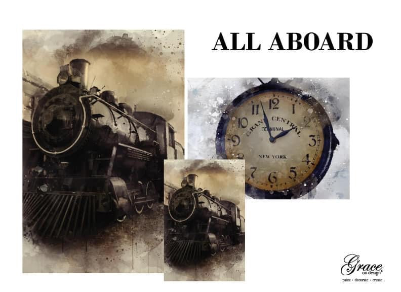 PRE-ORDER: All Aboard Decoupage Pack