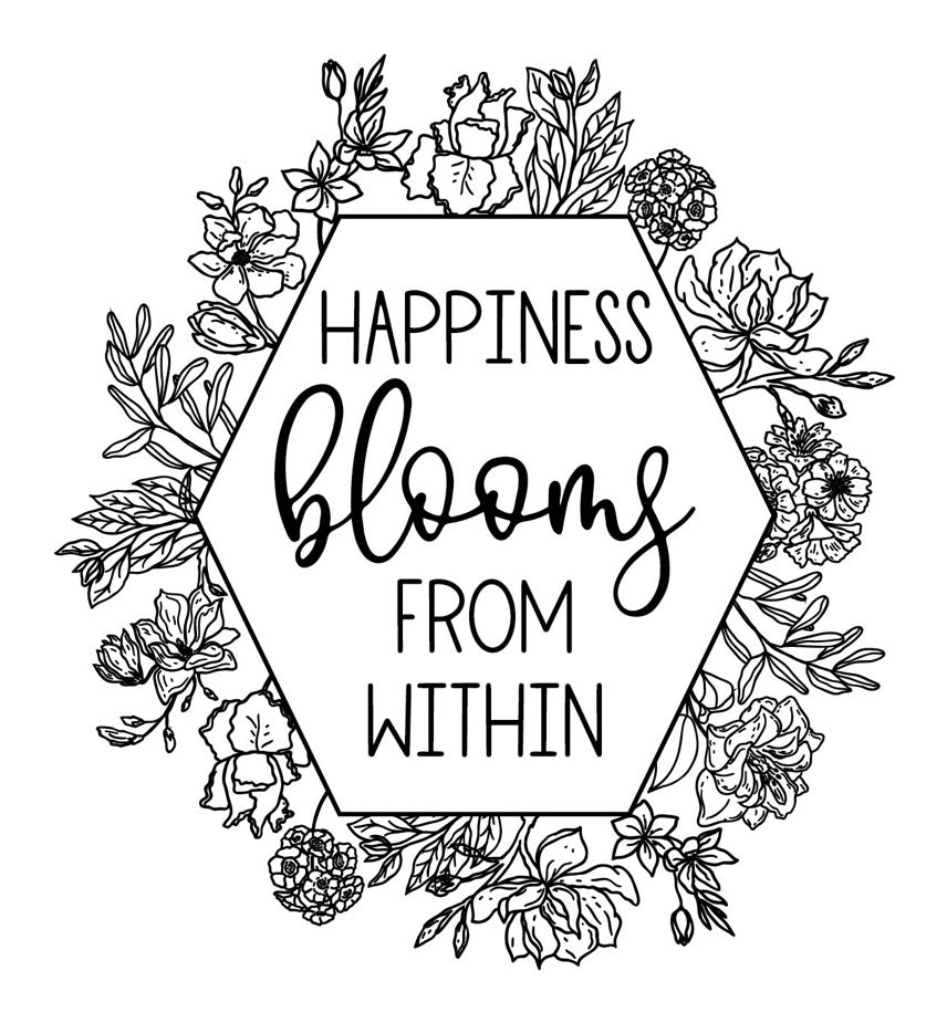 Happiness Blooms - Magnolia Design Company Silkscreen Stencil