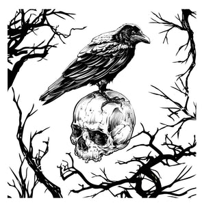 Crow on Skull - Magnolia Design Company Silkscreen Stencil