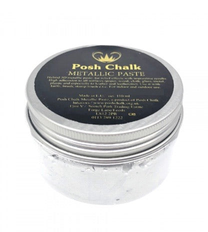 Posh Chalk Metallic Paste - White Titanium