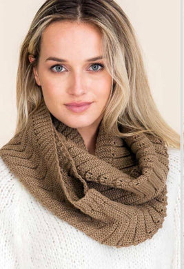 Solid Colored Ribbed Knit Winter Big Infinity Scarves