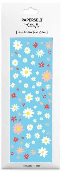 Hippie Daisy Temporary Tattoo Stickers