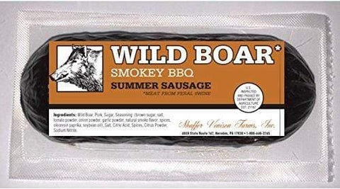 Shaffer Venison Farms Wild Boar Smokey BBQ summer sausage