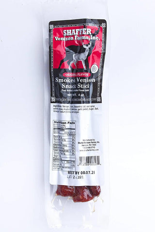 Shaffer Venison Farms, Inc. Smoked Venison Snack Stick Original Flavor