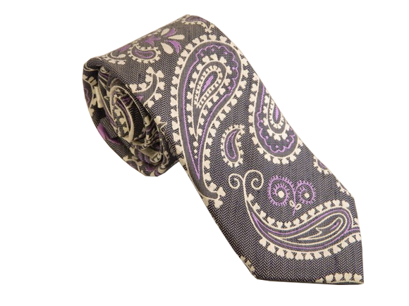 Men's Silk Necktie - Grey