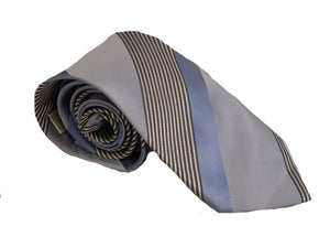 Blue Stripe Tie | Striped Blue Necktie | Striped Necktie