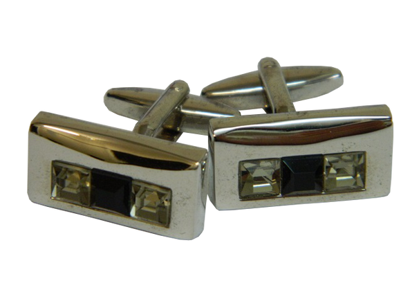Black Cufflinks | Rectangle Cufflinks | Traditional Cufflinks | Cufflinks