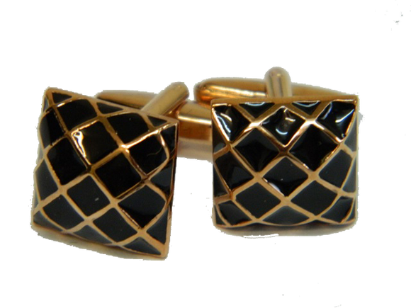Traditional Black Cufflinks