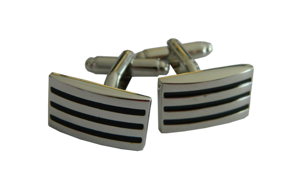 Striped Cufflinks | Rectangle Cufflinks | Traditional Cufflinks | Cufflinks