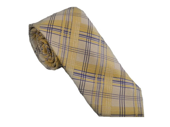 Yellow Check Necktie Australia | Yellow Check Tie Australia | Yellow Tie Australia