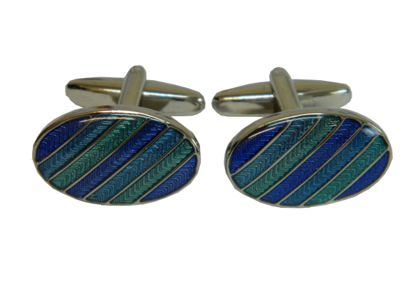 Blue Striped Cufflinks Australia | Striped Blue Cufflinks Australia