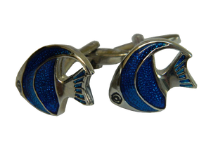 Fish Cufflinks | Blue Fish | Animal Cufflinks | Cufflinks Perth