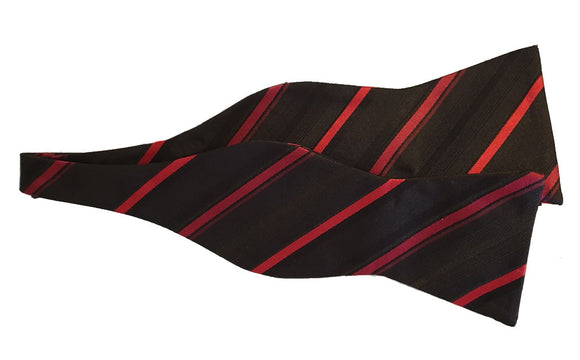 Black Self Tie Bowtie | Self Tie Bow Tie Australia | Striped Bowtie Australia