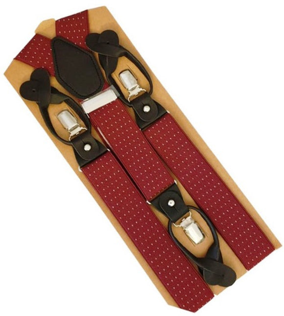 Red Braces | Burgundy Suspenders | Burgundy Braces