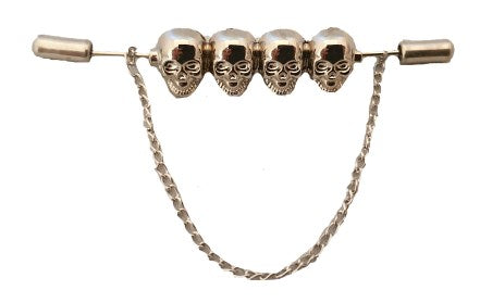 Skulls | Collar Bar | Collar Pins | Shirt Pin