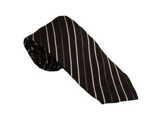 Striped Black Tie Australia | Striped Black Necktie Australia