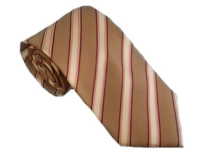 Dexter Brown Stripe Silk Necktie - Men's