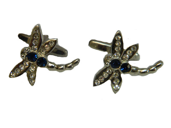 Dragonfly Silver Coloured Cufflinks