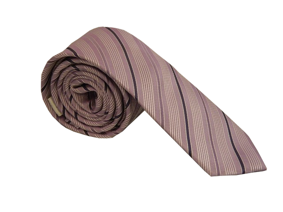 Purple Necktie | Striped Necktie | Skinny Tie