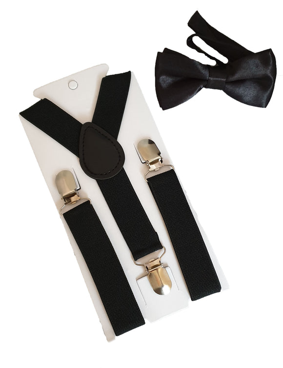 Boys Braces | Boys Suspenders | Boys Straps | Black Braces | Black Suspenders