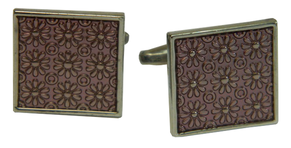 Fuchsia Cufflinks | Square Cufflinks | Traditional Cufflinks | Cufflinks
