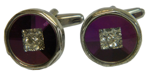 Purple Cufflinks | Fuchsia Cufflinks | Round Cufflinks | Traditional Cufflinks | Cufflinks