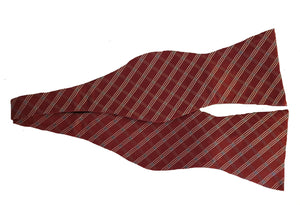 Red Check Bowtie | Red Striped Bow Tie | Red Check Bow Tie