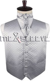 Silver Vest | Silver Waistcoat | Wedding Vest | Wedding Waistcoat | Formal Vest | Formal Waistcoat | Menswear | Formal Wear | 24hr Menswear | Boys Suits | Mens Suits
