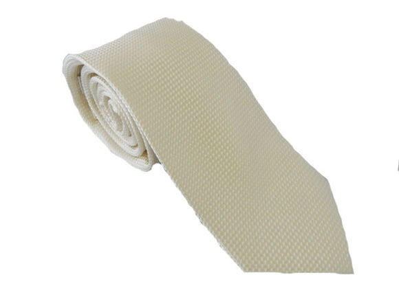 Cream Tie | Plain Cream Necktie | Ivory Necktie