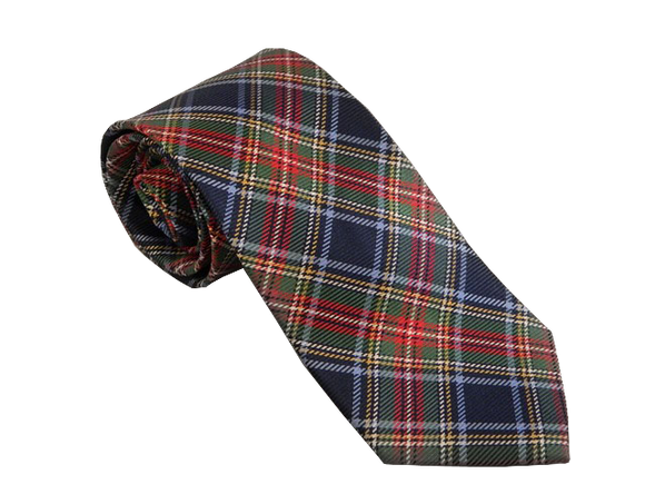 Blue Tartan Tie | Mens Ties | Silk Ties | Silk Neckties | Scottish Tie