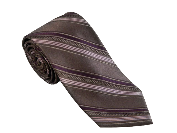 Grey Striped Tie | Mens Ties | Silk Ties | Silk Neckties | Purple Tie