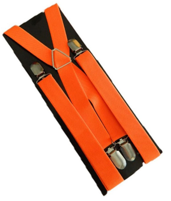 Bright Orange Braces | Bright Orange Suspenders