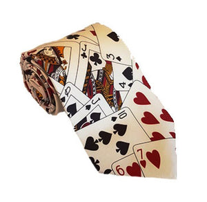 Cards Necktie | Cards Tie | Playing Cards Tie | Playing Cards Necktie | Poker Tie | Poker Necktie