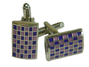 Purple Cufflinks | Lilac Cufflnks | Rectangle Cufflinks