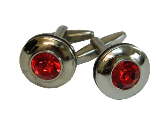 Red Cufflinks | Round Cufflinks | Traditional Cufflinks | Cufflinks