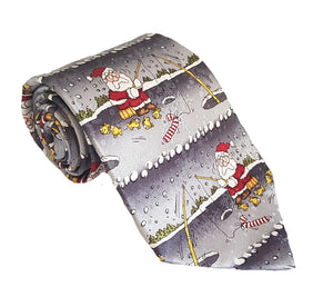 Fishing Tie | Santa Fishing | Christmas Tie