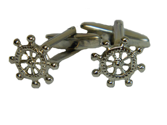Ships Wheel Cufflinks | Ship Cufflinks | Sailing Cufflinks