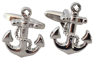 Silver Anchor Cufflinks Australia | Anchor Cufflinks Sydney | Anchor Cufflinks Darwin