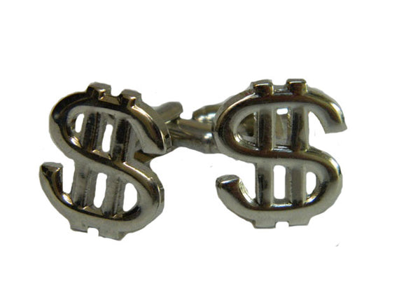 Dollar Sign Cufflinks | Gambling Cufflinks | Fun Cufflinks