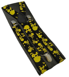 Yellow Skull Braces | Yellow Skull Suspenders