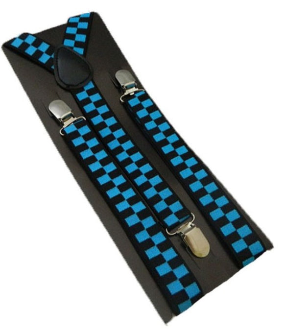 Blue Suspenders | Black Braces | Blue Braces