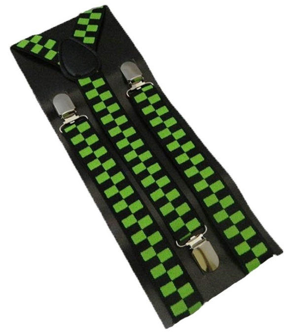 Green Braces | Green Suspenders | Black Braces