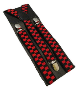 Red Braces | Red Suspenders | Red Check Braces