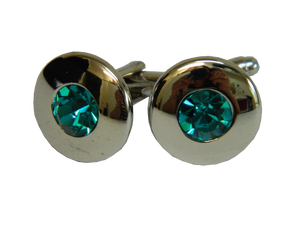 Green Cufflinks | Round Cufflinks | Traditional Cufflinks | Cufflinks
