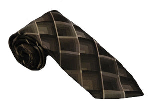 Black Necktie | Diamond Design Tie | Black Diamond